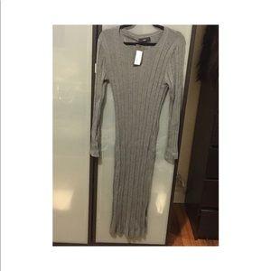 Women's mossimo women's ribbed grey dress